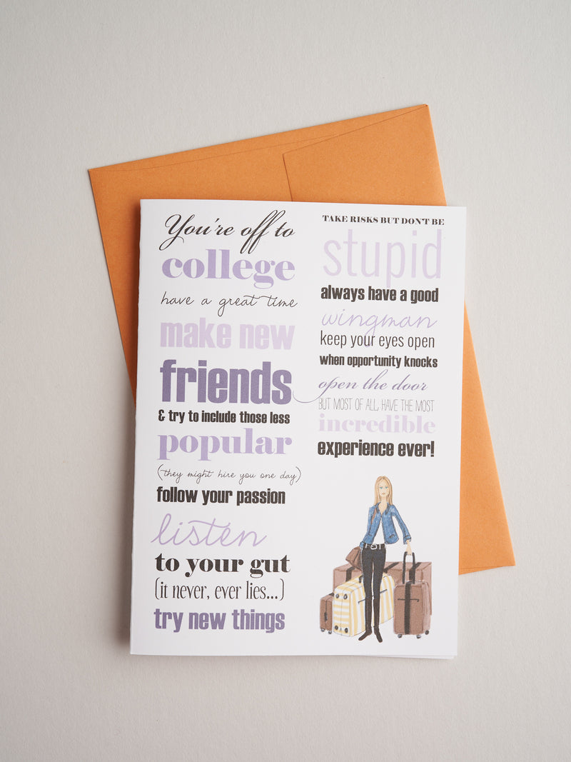 G-13-11 | Off To College - Greeting Cards - Queen & Grace