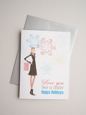 H-X-11-09 | Like a Sister - Greeting Cards - Queen & Grace