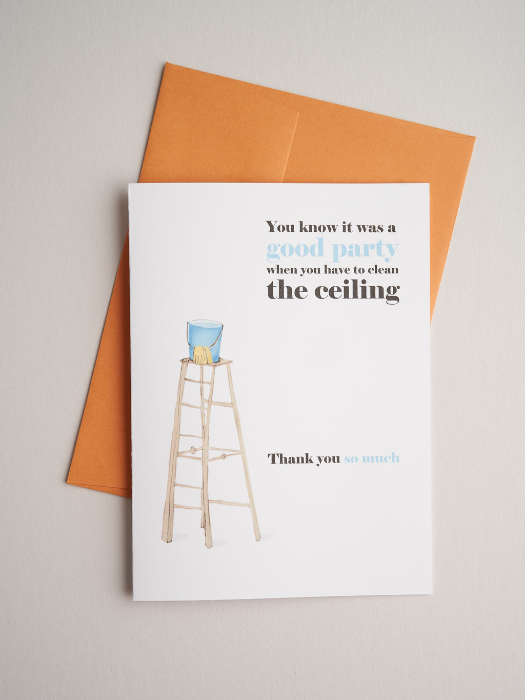 TQ-F-11-55 | Clean the Ceiling - Greeting Cards - Queen & Grace
