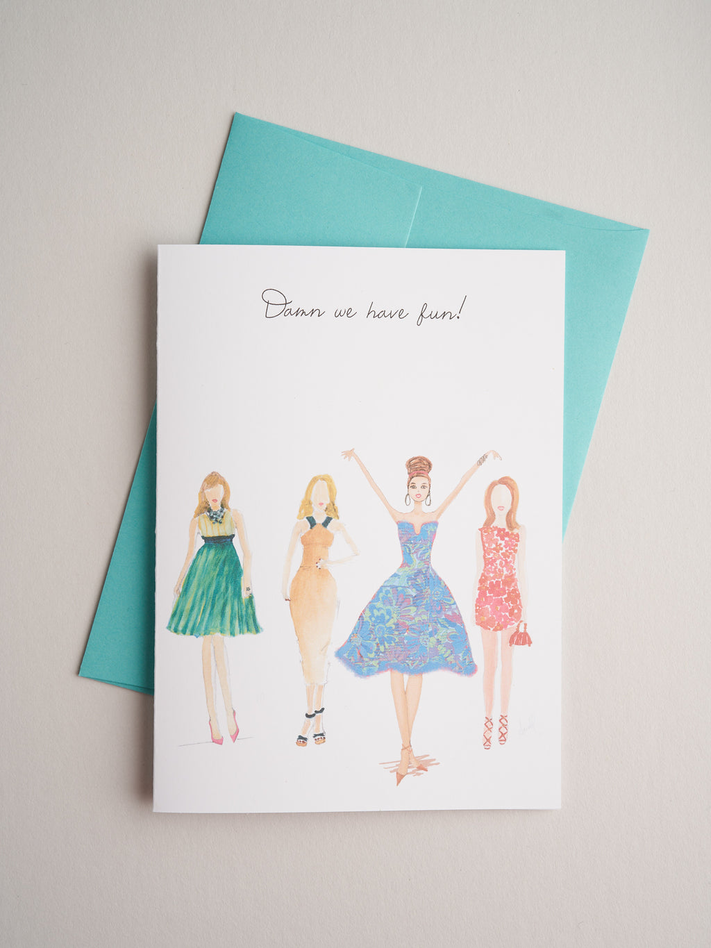 TQ-14-07 | Damn we have fun! - Greeting Cards - Queen & Grace