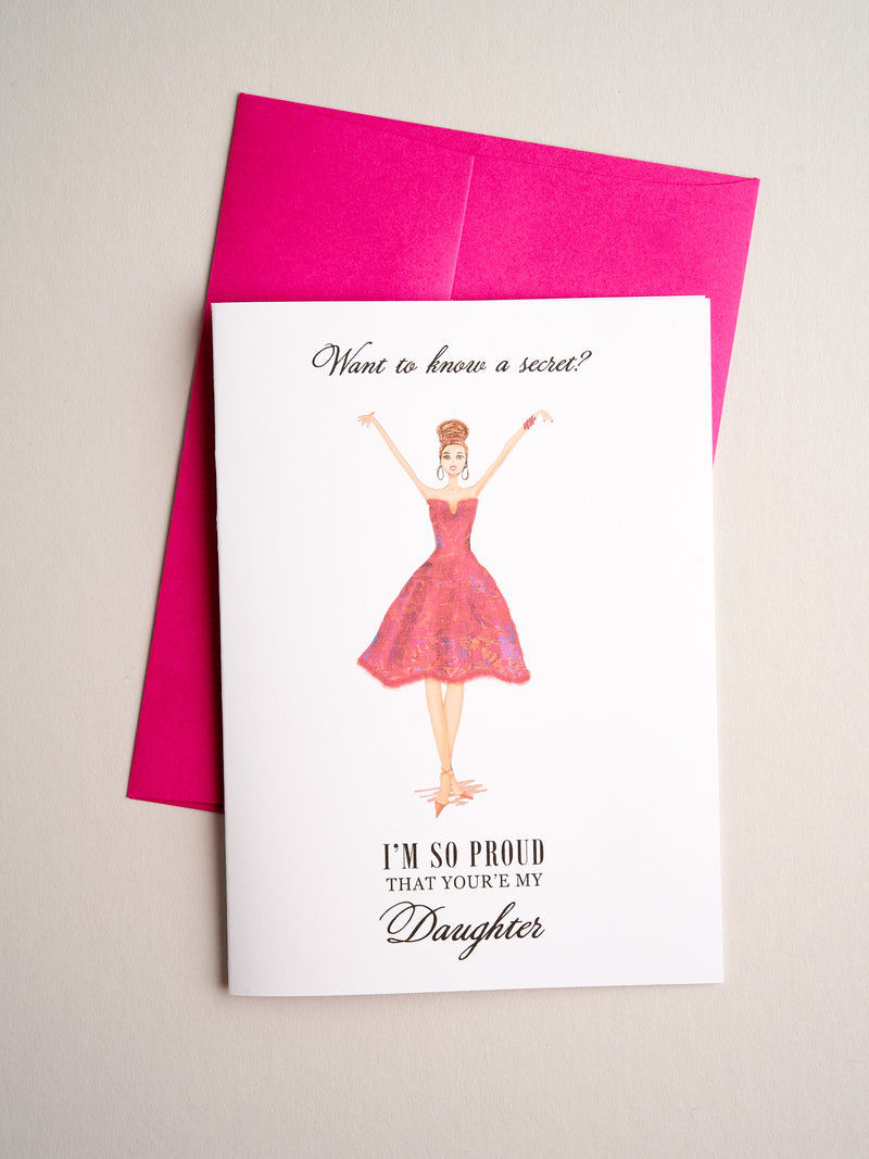 FR-14-10 | Proud Daughter - Greeting Cards - Queen & Grace