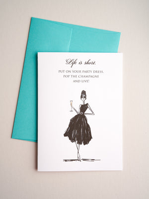 FR-13-08 | Party Dress - Greeting Cards - Queen & Grace