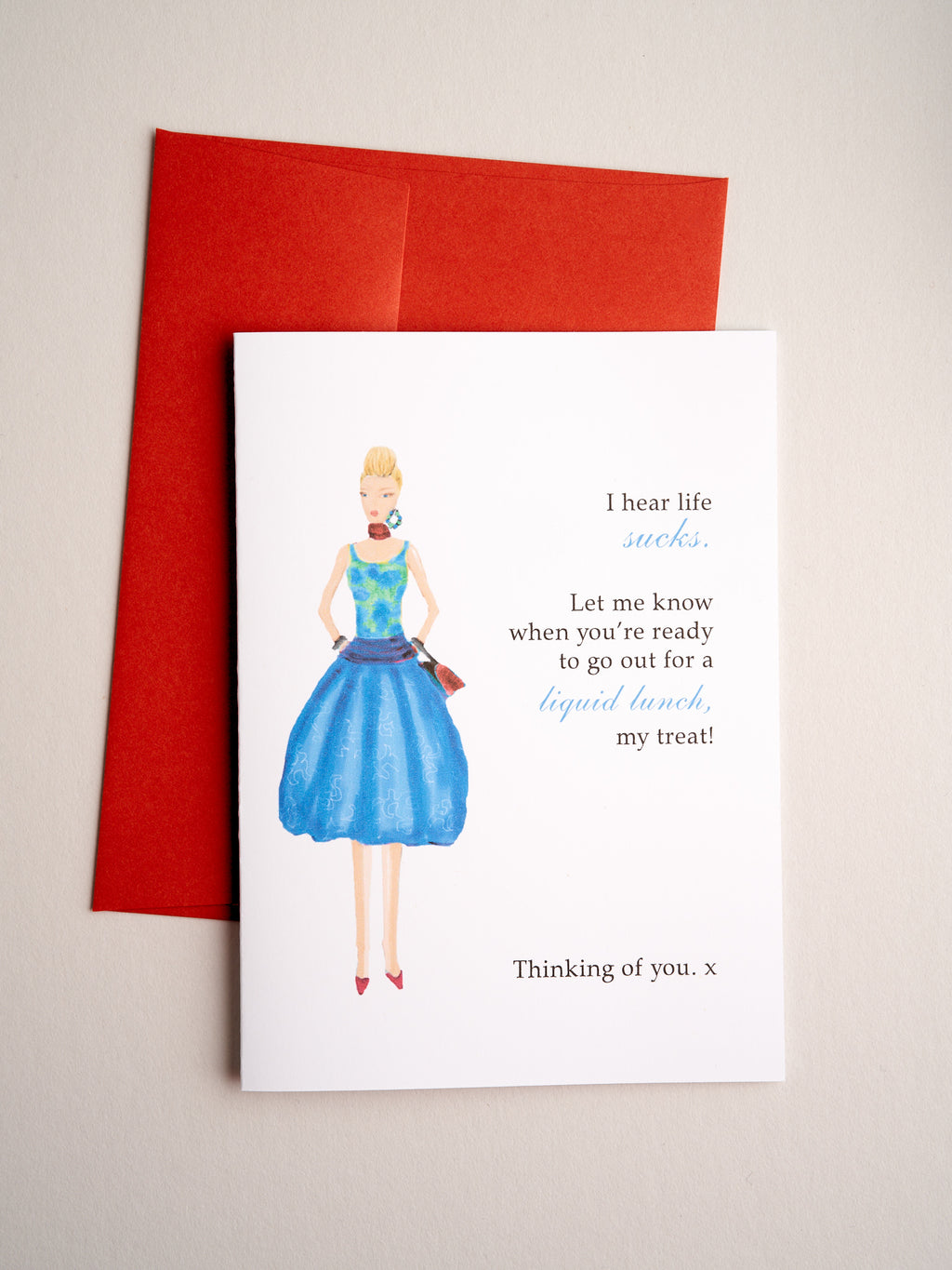 FR-17-04 | Liquid Lunch - Greeting Cards - Queen & Grace