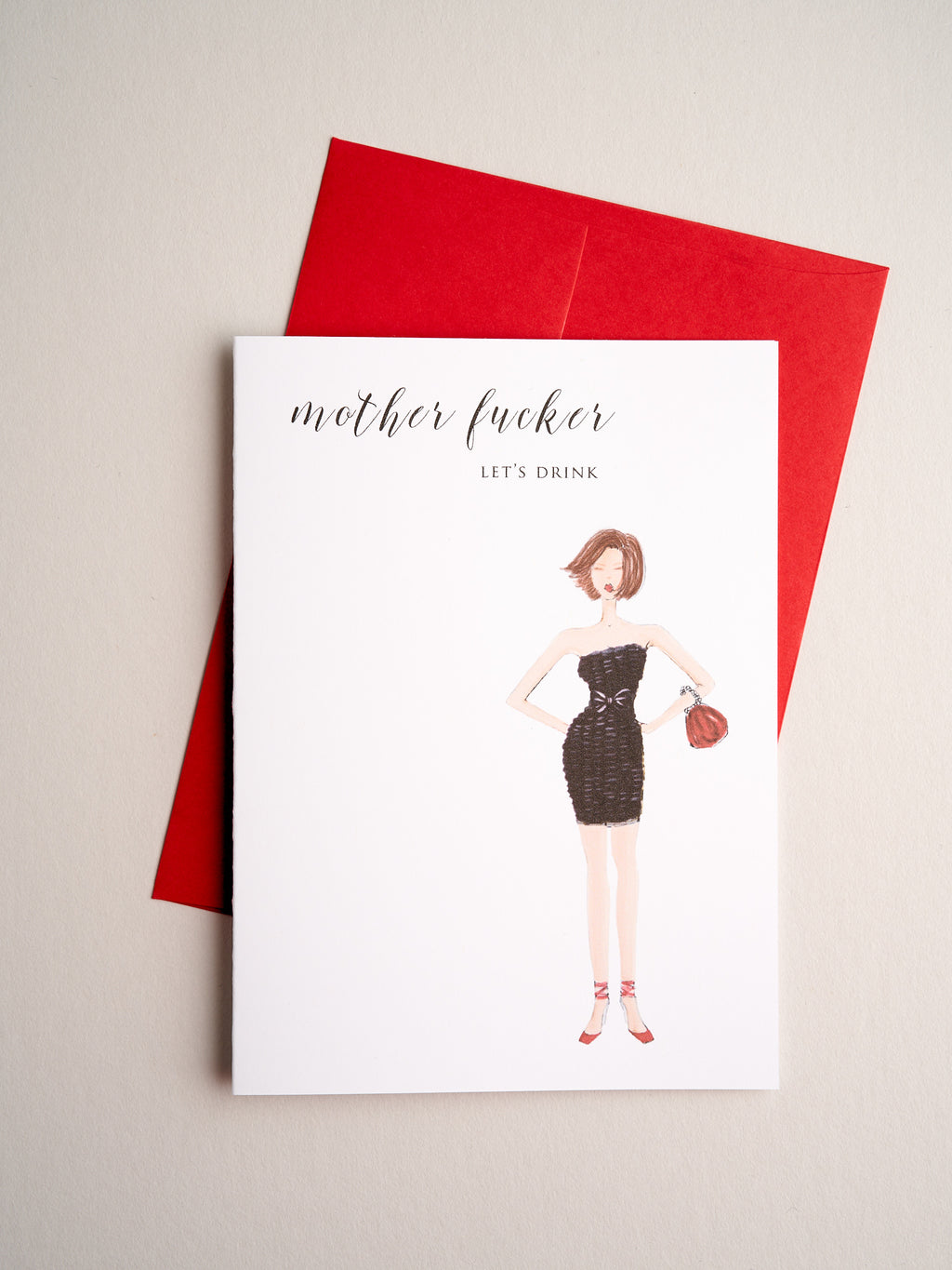 FR-R-08-31-B | Mother Fucker - Greeting Cards - Queen & Grace