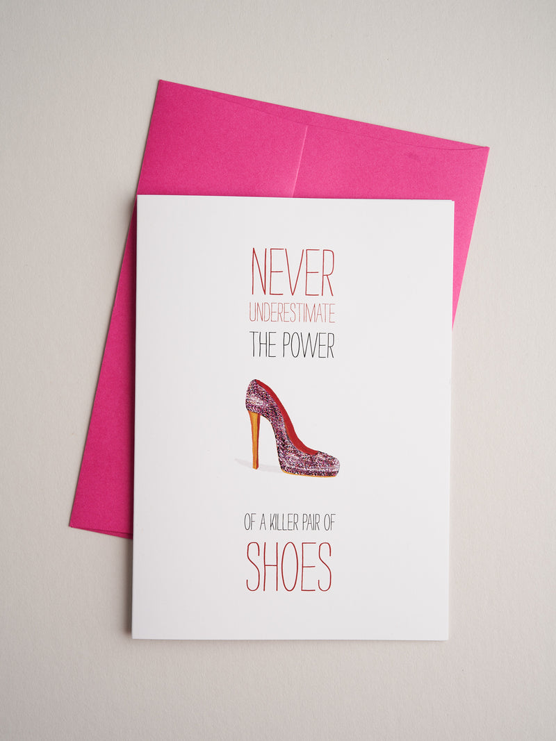 IN-F-13-39 Killer shoes - Greeting Cards - Queen & Grace