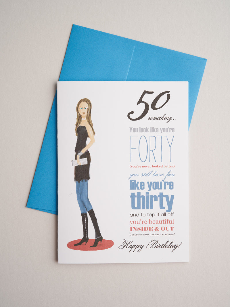 BD-14-05 | Fifty Something Woman - Greeting Cards - Queen & Grace