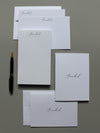 #4 Classic Fonts | Notepad + Panel + Folded Notecards - [product_type] - Queen & Grace