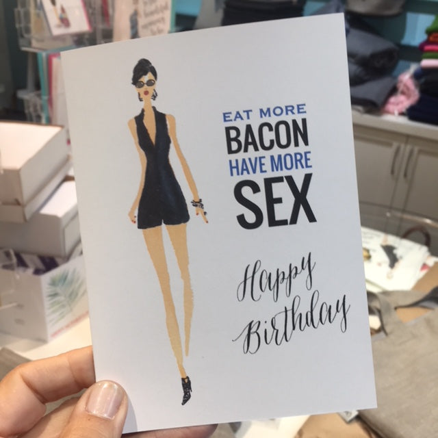 BD-15-02 | Bacon - Greeting Cards - Queen & Grace