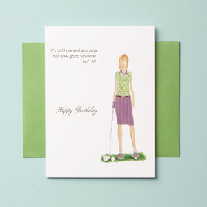 BD-C-08-04| Golf Play Well - Greeting Cards, Wholesale - Queen & Grace