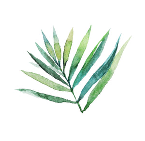 Bamboo | Green Leaf #1 - Social Stationery - Queen & Grace