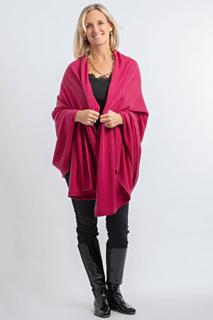 Cashmere Blanket Wrap Coulis Pink 30/70