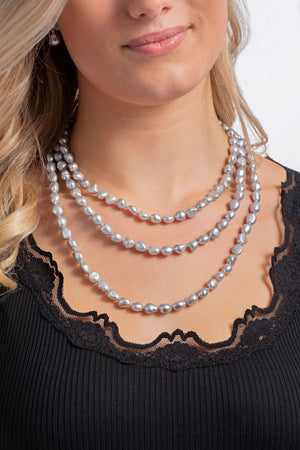 Oyster Grey Baroque Pearls | Three Lengths