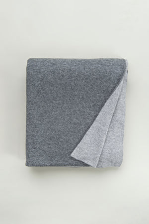 Cashmere Blanket - Light Grey + Medium Grey
