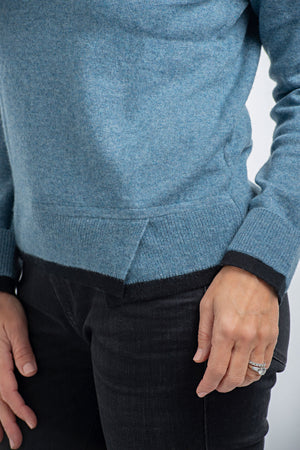 Cashmere Crew Neck | Light Denim