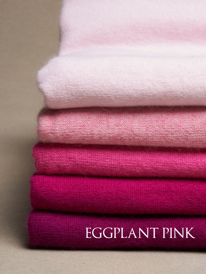 Eggplant Pink Cashmere Poncho M-2031