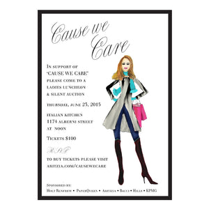 Cause We Care - Invitations - Queen & Grace