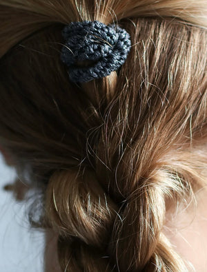 Hair Ties | Mix Black Grey Glitter