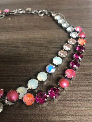 Swarovski Necklace | Pink + Fuscia