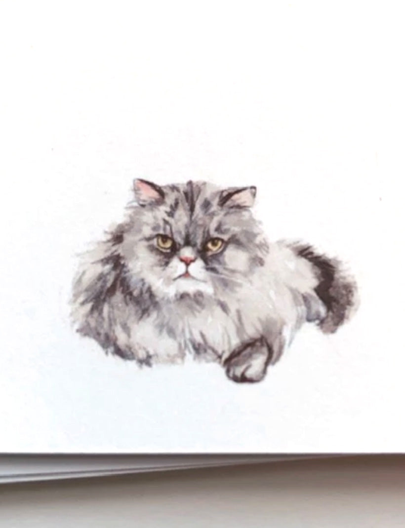 GREY KITTY CAT | Flat Panel Cards