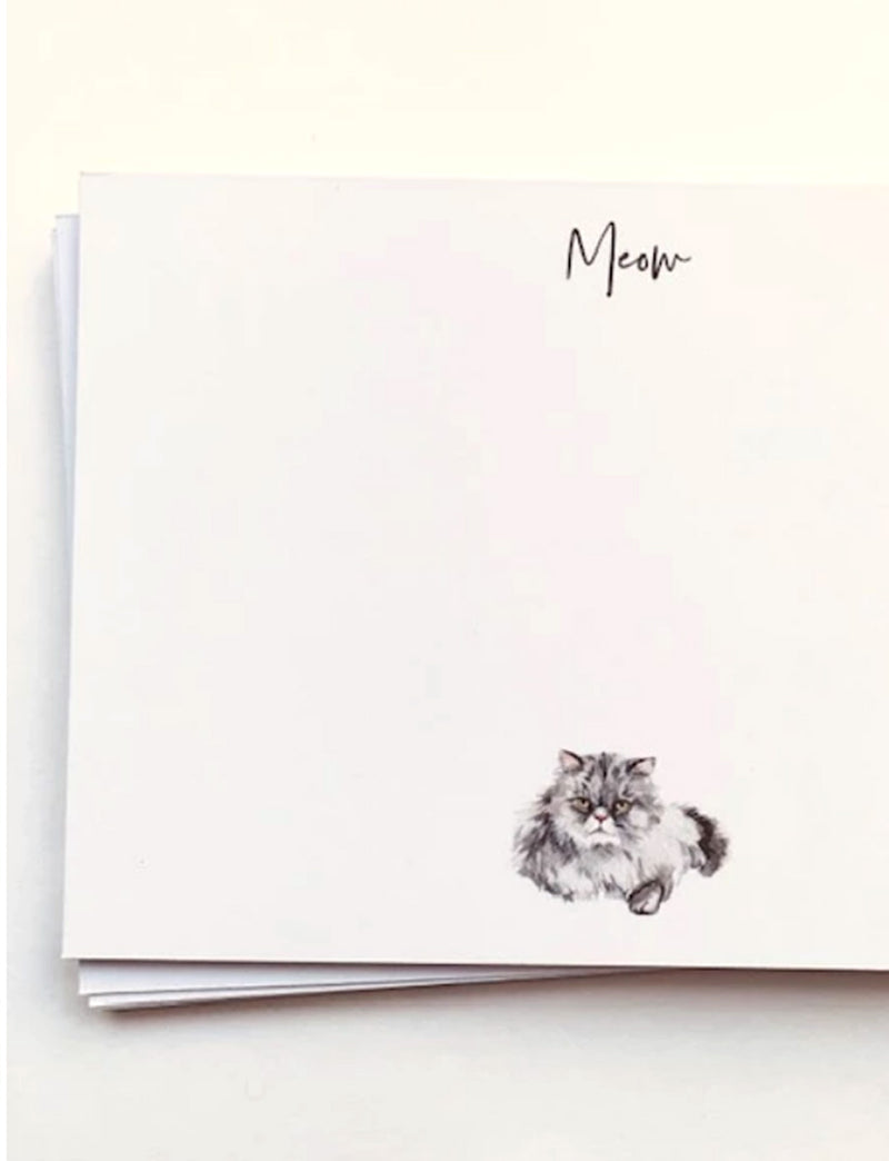 GREY KITTY CAT | Flat Panel Cards - [product_type] - Queen & Grace