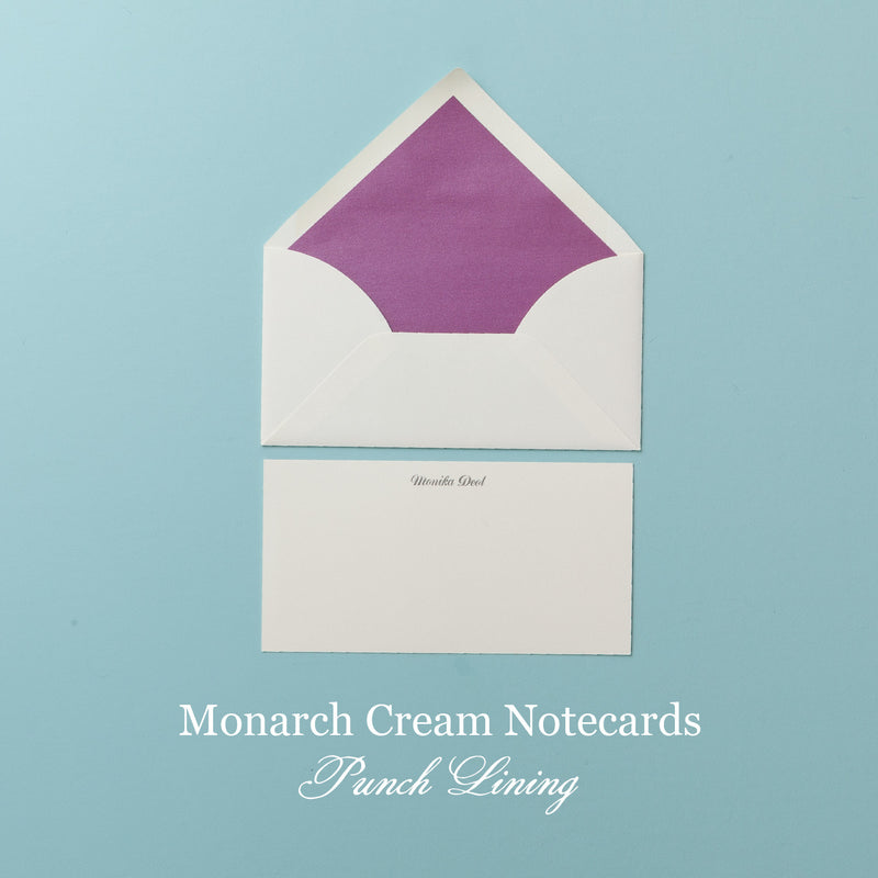 Monarch Cream Illustrated Notecard - Social Stationery - Queen & Grace