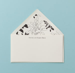 Monarch Cream Monogram Notecard - Social Stationery - Queen & Grace