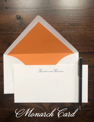 Deluxe Monarch Cards - Social Stationery - Queen & Grace
