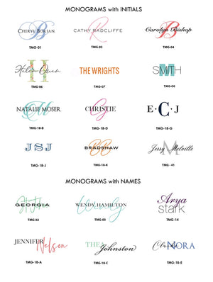 STYLISH MONOGRAMS | Flat Panel Cards - [product_type] - Queen & Grace