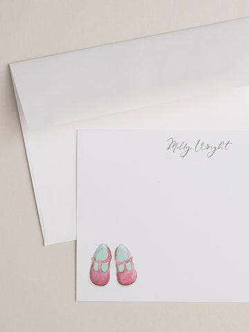 Pink Baby Shoes Notecards