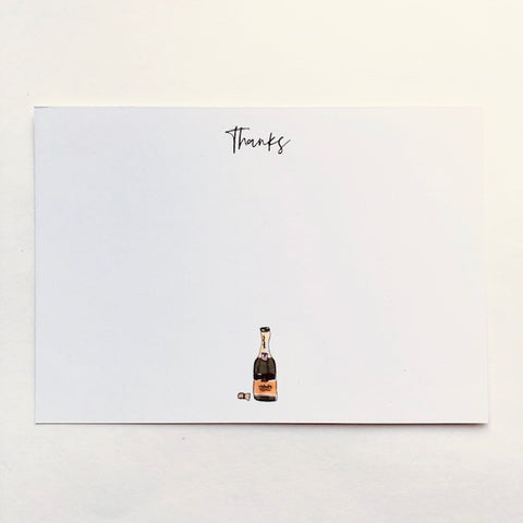 Panel Cards - Champagne Bottle