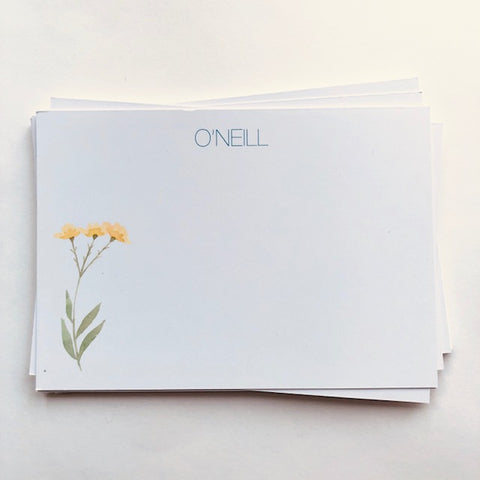 Yellow Flower - Panel Cards