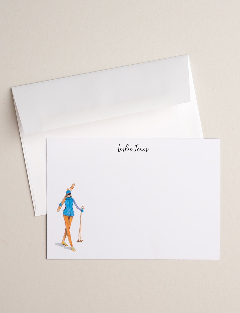 BLUE SKIER | Flat Panel Cards