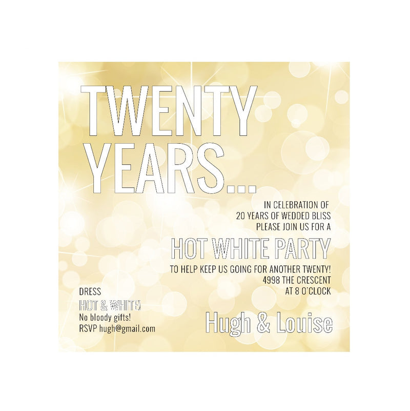 Twenty Years - Invitations - Queen & Grace