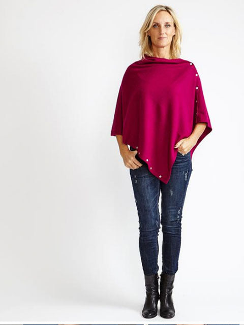 Pink Shades | Poncho - Cashmere - Queen & Grace