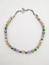 Swarovski Necklace | Green + Mauve