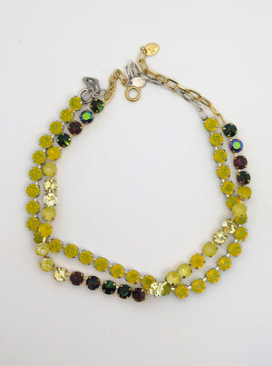 Swarovski Necklace | Solid Citrine