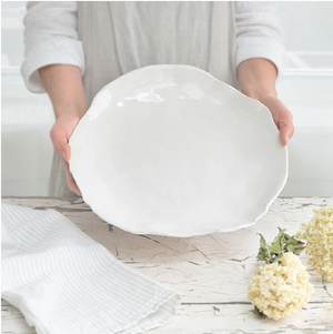 Ceramic Shallow Serving Bowl