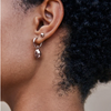 2-in-1 Galina Mini Silver Hoop Earrings