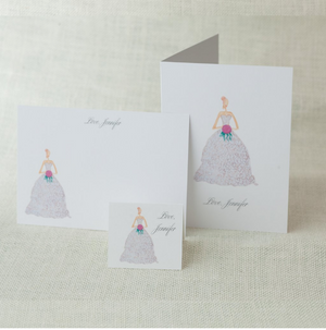 Brunette | F-GG-06 - Social Stationery - Queen & Grace