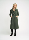 Cashmere Coat Cardigan | Olive Green - Cashmere - Queen & Grace