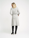 Cashmere Coat Cardigan | Light Grey - Cashmere - Queen & Grace