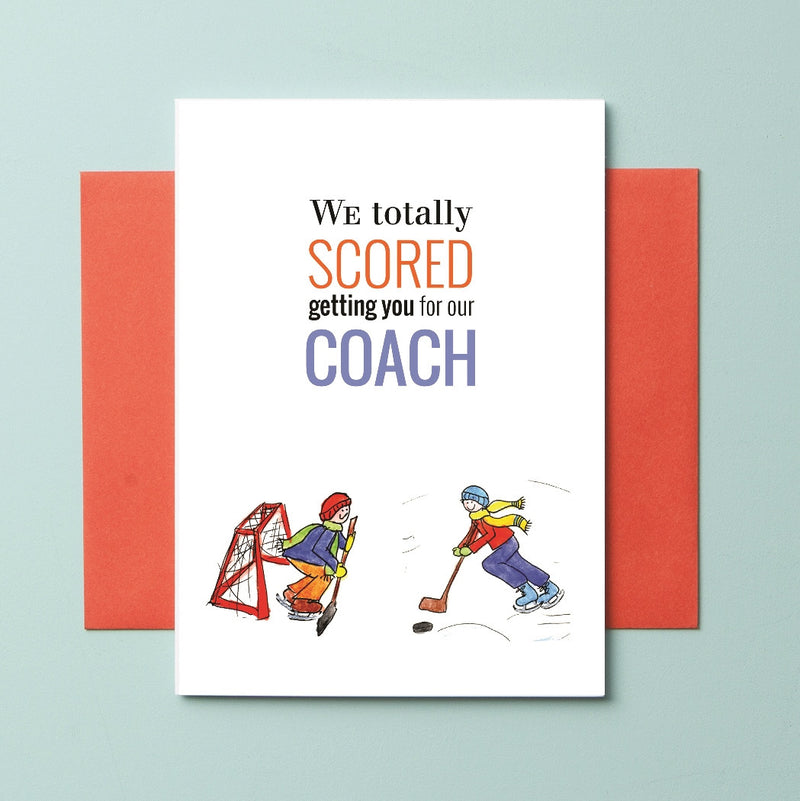 TCH-16-08 Hockey Boy RB - Greeting Cards - Queen & Grace