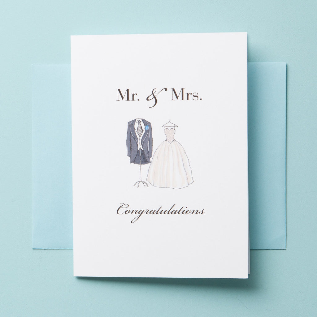 W-15-01 | Mr & Mrs - Greeting Cards - Queen & Grace