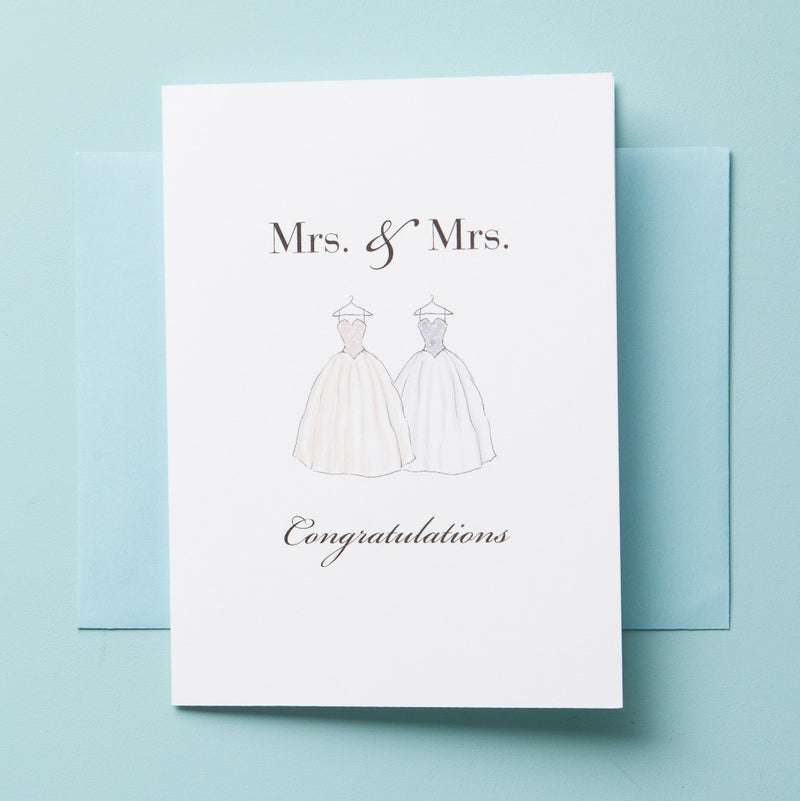 W-16-01 Mrs & Mrs - Greeting Cards - Queen & Grace