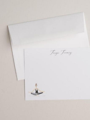 Seated Yoga Notecards
