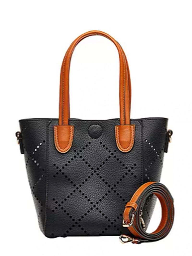 Baby Bermuda | Black - Handbags - Queen & Grace