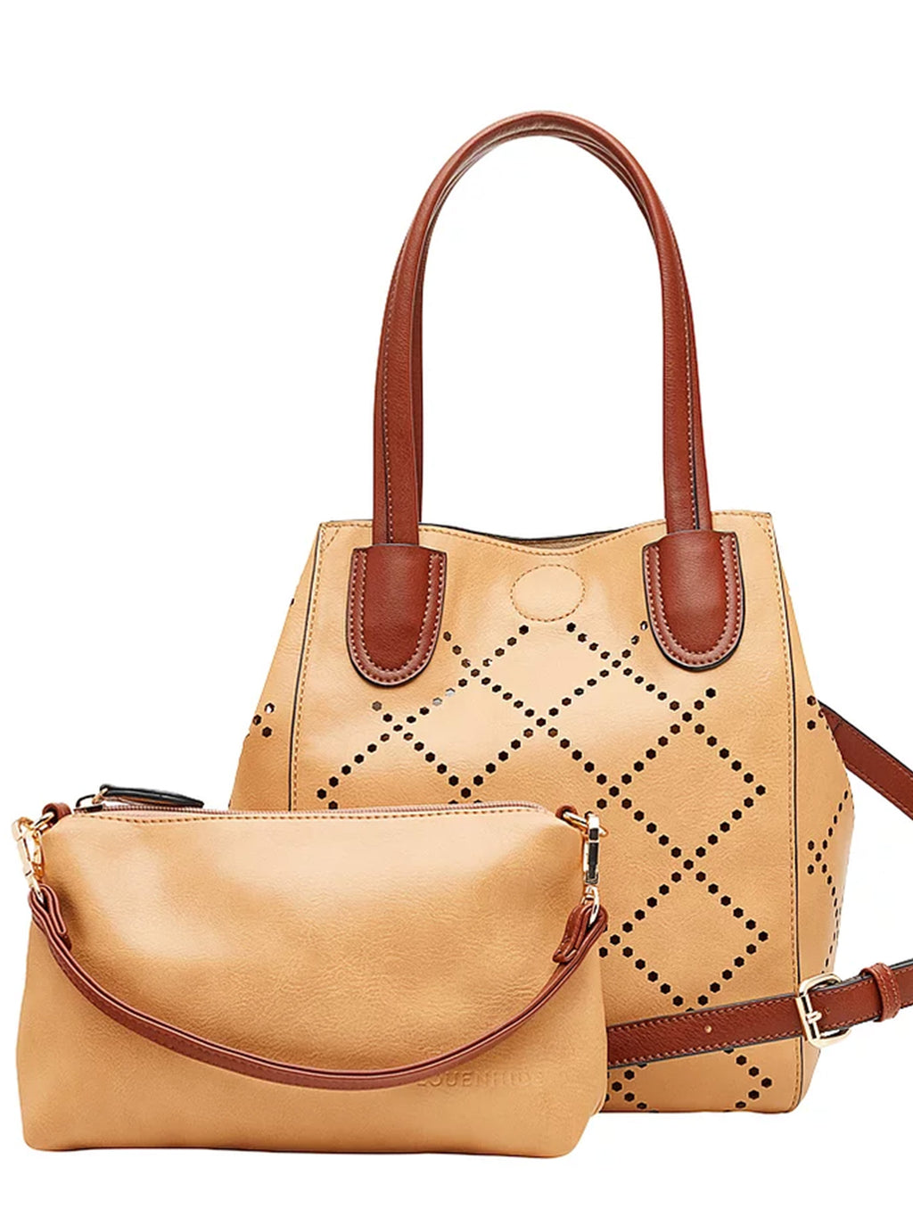 Baby Bermuda | Camel - Handbags - Queen & Grace