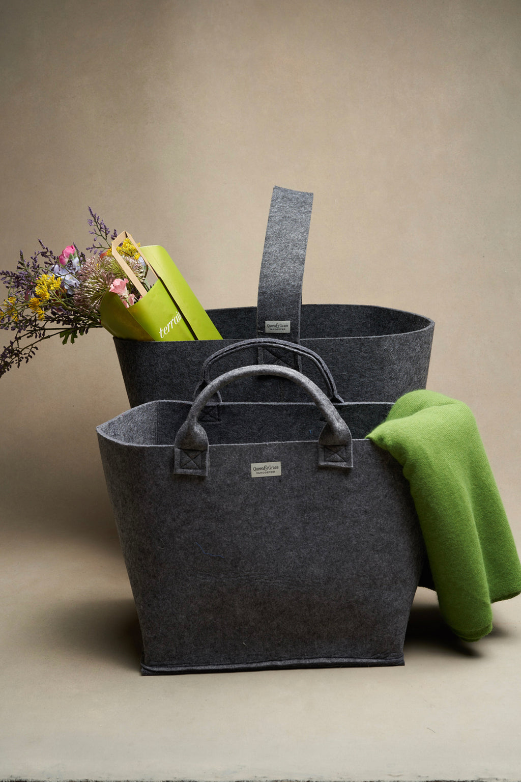 Felt Totes - Accessories - Queen & Grace