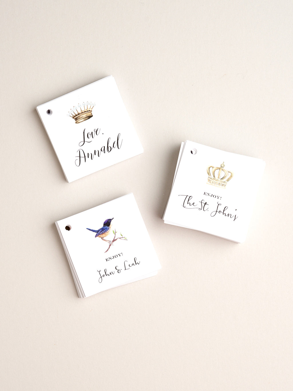 Gift Tags - Flat with drilled hole