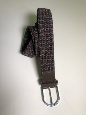 Woven Belt - Chevron Brown & Grey